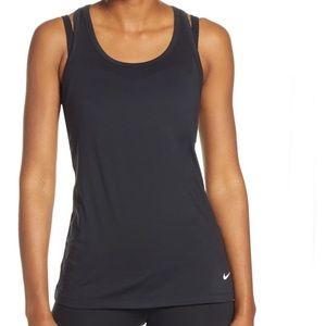 Nike Get Fit Dri Fit Black Racerback Tank Top